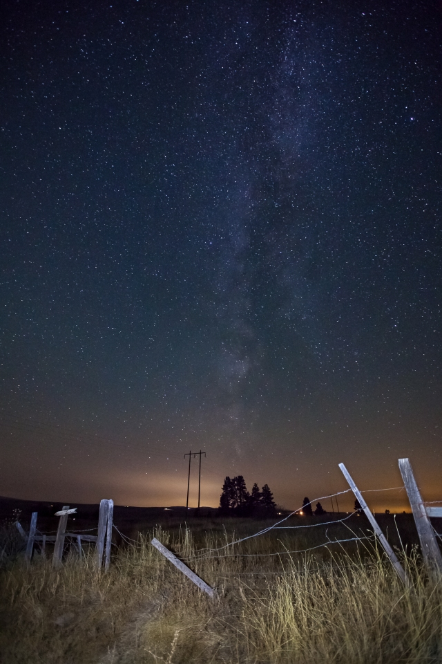 The Milky Way as seen from central Washington.